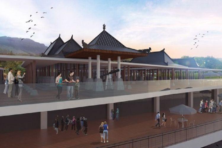 Rencana bangunan anjungan cerdas di area bendungan Kecamatan Tugu, Kabupaten Trenggalek, Jawa Timur.