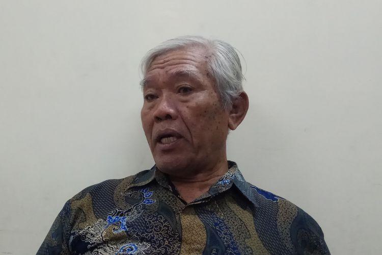 Ketua Yayasan Penelitian Korban Pembunuhan 1965-1966, Bedjo Untung Saat Ditemui di Kantor Komnas HAM, Jakarta, Selasa (24/10/2017).