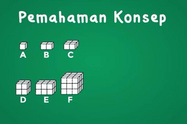 Contoh gambar kubus dan balok.
