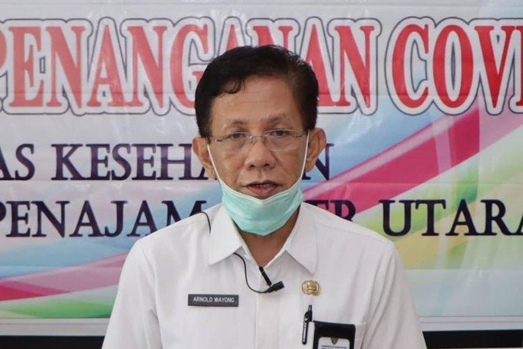 Kepala Dinas Kesehatan (Dinkes) sekaligus Juru Bicara Gugus Tugas Percepatan Penanganan Covid-19 Kabupaten PPU Arnold Wayong.