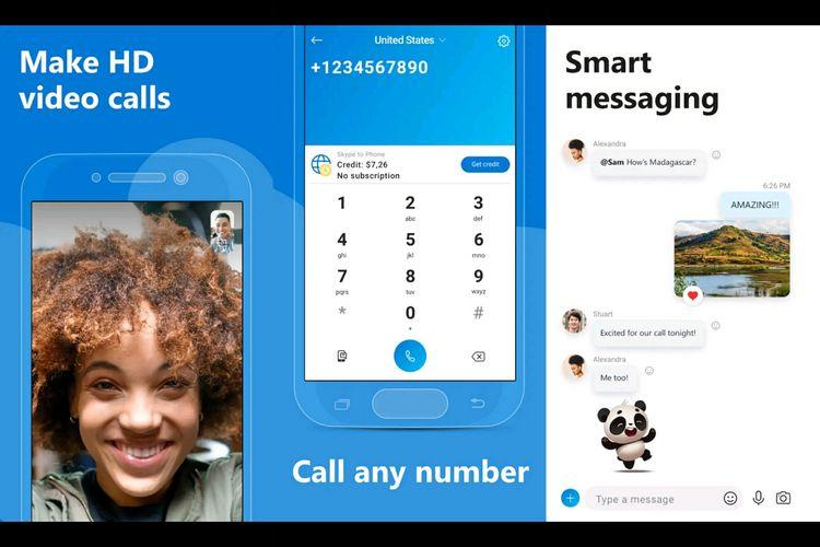 Aplikasi Skype.