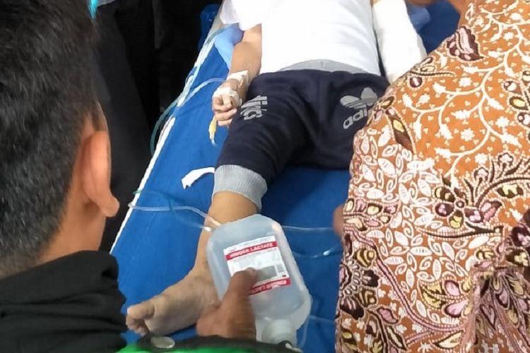 Seorang balita tewas setelah terjatuh dari lantai 7, Tower A, Rusunawa Tambora, Jakarta Barat, Jumat (18/10/2019).