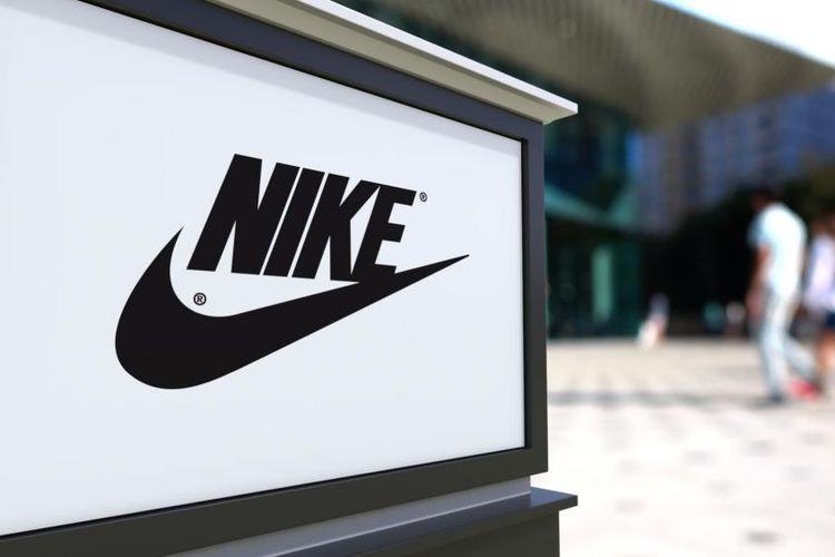 Ilustrasi logo Nike.