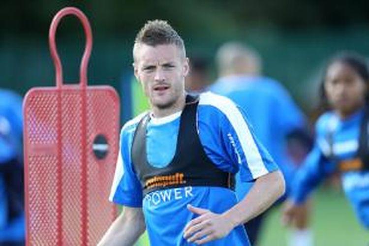 Striker Leicester, Jamie Vardy.