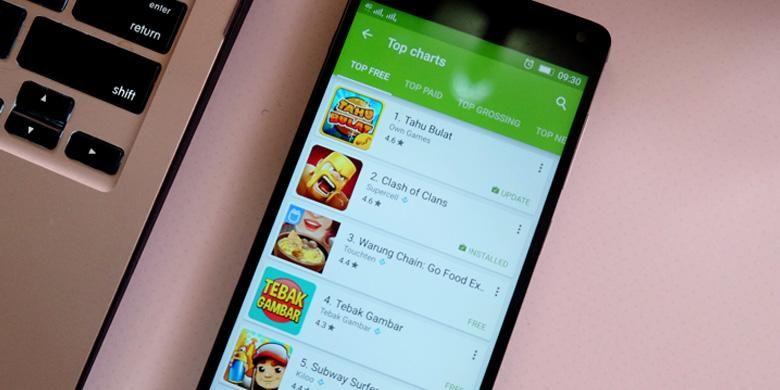 Ilustrasi Google Play Store