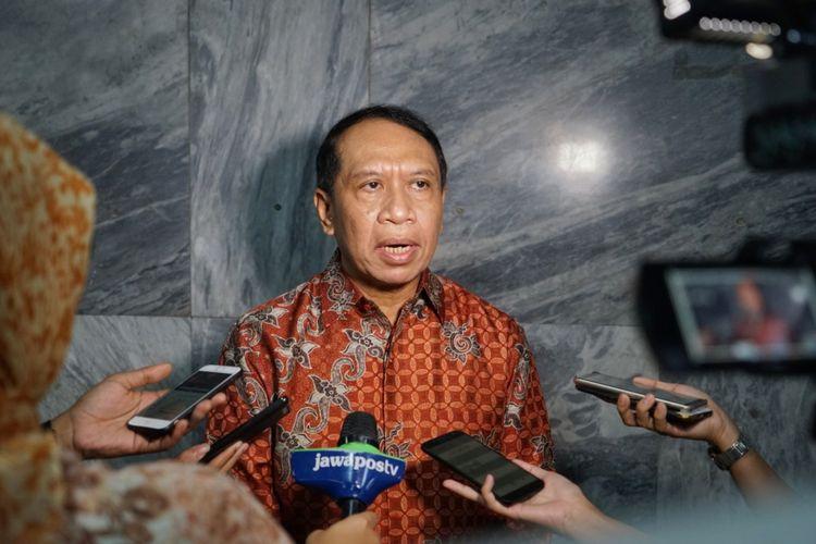 Ketua Komisi II DPR Zainudin Amali di Kompleks Parlemen, Senayan, Jakarta, Rabu (17/10/2018).