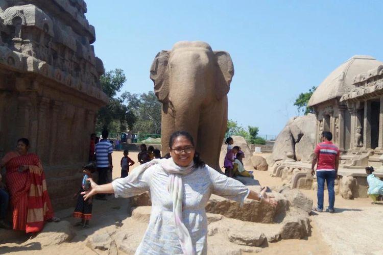 Anggy Eka Pratiwi mahasiswi S3 asal Banyuwangi (Jawa Timur) yang sekarang sedang menempuh studi di India.