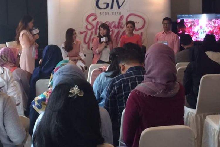 Jumpa pers GIV Speak Your Mind! di Jakarta, Senin (15/5/2017).