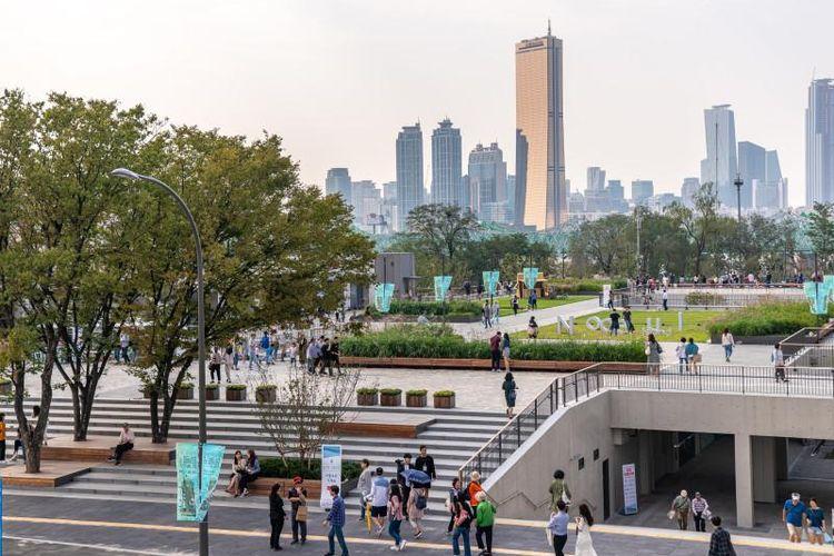 Pulau Nodeul di Seoul, Korea Selatan yang dijadikan sebagai salah satu lokasi syuting drakor Start-Up.