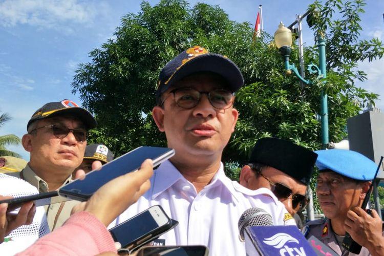 Gubernur DKI Jakarta Anies Baswedan di Mapolda Metro Jaya, Jakarta Selatan, Jumat (16/11/2018).