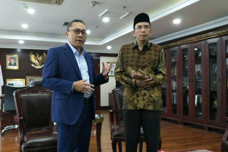 Gubernur NTB Zainul Majdi menemui Ketua MPR Zulkifli Hasan