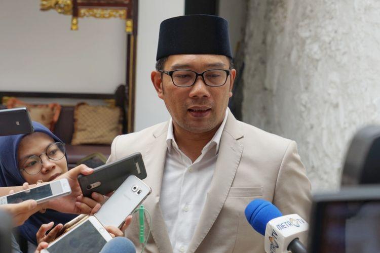 Calon Gubernur Jawa Barat, Ridwan Kamil, saat ditemui di sela-sela acara halalbihalal Ketua DPD RI Oesman Sapta Odang, Kuningan, Jakarta Selatan, Sabtu (16/6/2018).
