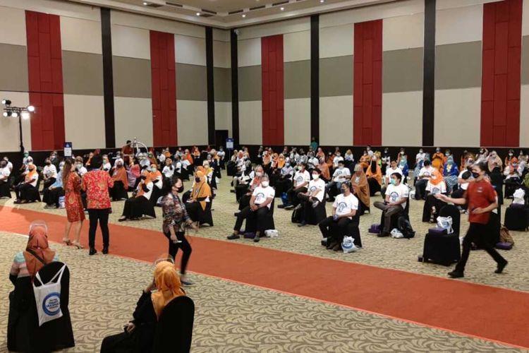 Festival Vaksinasi Makassar akan dihadiri Presiden Jokowi di Hotel Dalton, Jl Perintis Kemerdekaan, Makassar, Kamis (18/3/2021).