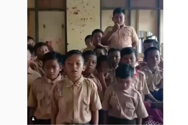 Video siswa SD Negeri Samudrajaya 04, Tarumajaya, Kabupaten Bekasi, viral di media sosial.