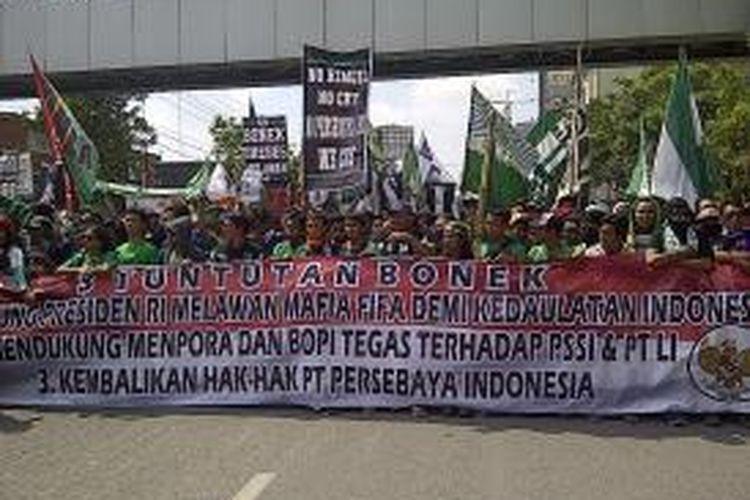 Aksi Bonek 1927 tolak Kongres PSSI di Surabaya.