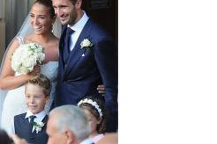 Giorgio Chiellini menikahi kekasihnya, Carolina Bonistalli.