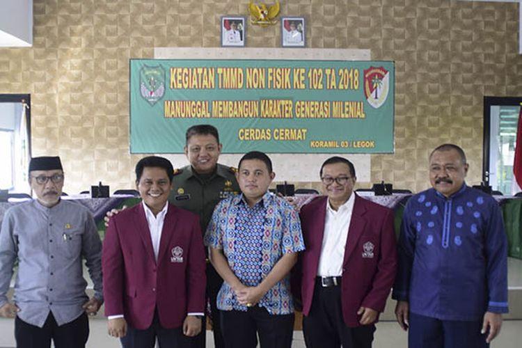Rektor Universitas Tarumanegara,Agustinus Purna Irawan dalam acara cerdas cermat, kerja sama Untar dan TNI