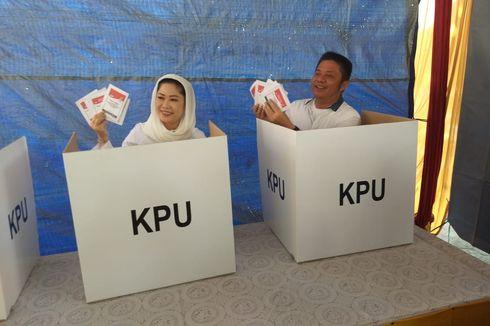 Sebelum Nyoblos, Gubernur Sumsel dan Istri Ngopi Bareng di TPS