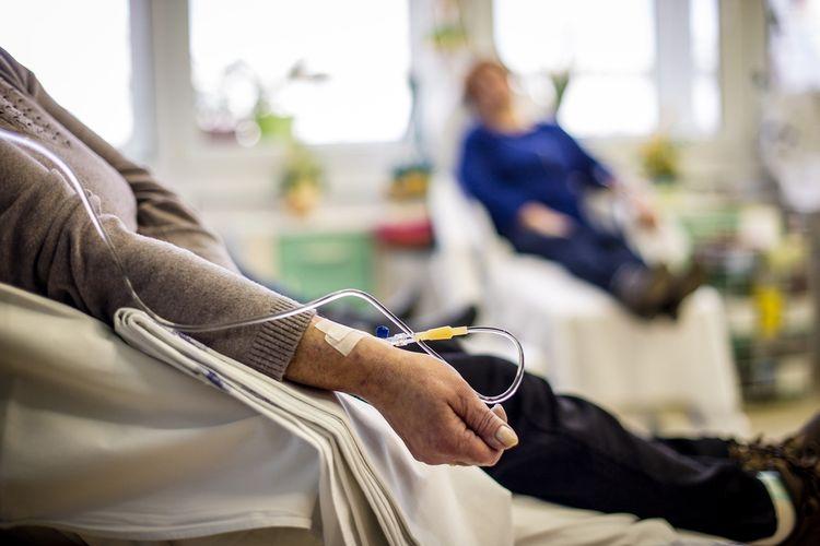 Ilustrasi kemoterapi, terapi pengobatan kanker.