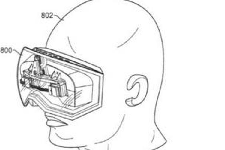 Perangkat headset dalam dokumen paten Apple