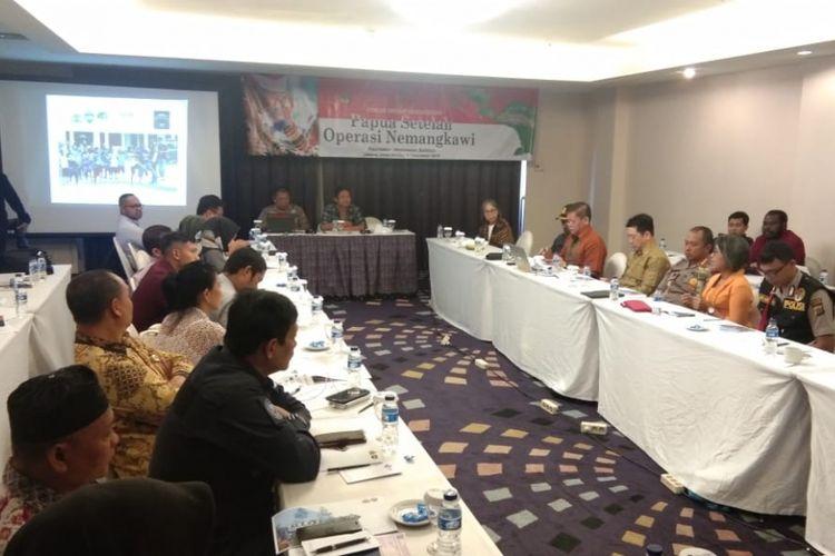 Forum Group Discussion (FGD) Binmas Noken yang diselenggarakan Mabes Polri bersama Universitas Bhayangkara Jakarta dan Concern Strategic Thinktank di Hotel Diradja, Jalan Kapten Pierre Tendean, Jakarta Selatan, Selasa (11/12/2018).