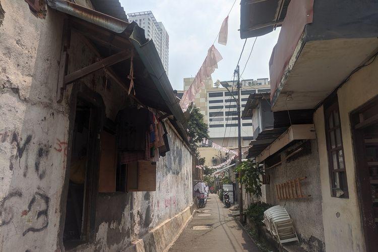 Kampung Kebon Melati, pemukiman yang terkepung gedung tinggi di kawasan Thamrin, Jakarta Pusat