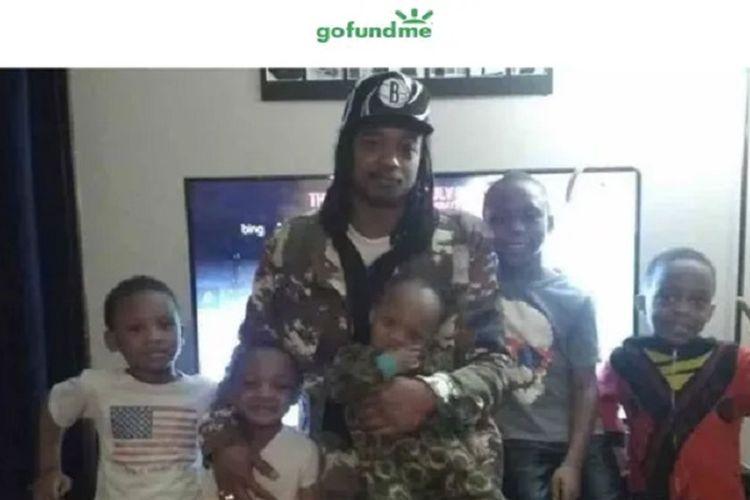 Jacob Blake bersama dengan anak-anaknya. Dia menjadi sorotan setelah ditembak tujuh kali oleh polisi di bagian punggung.