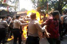 Polisi Periksa Jejak Digital Tersangka Pelempar Bahan Bakar Saat Demo Mahasiswa di Cianjur