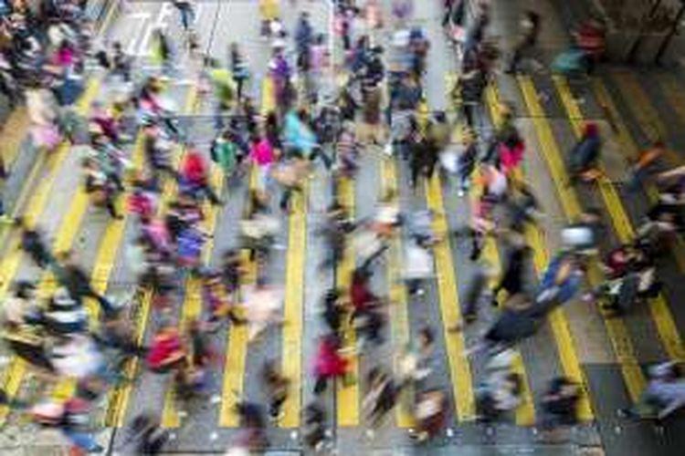 Ilustrasi kesibukan kaum urban