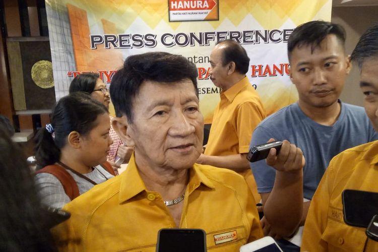 Ketua Dewan Kehormatan Partai Hanura Chaerudin di Hotel Atlet Century Park, Senayan, Jakarta, Rabu (18/12/2019).