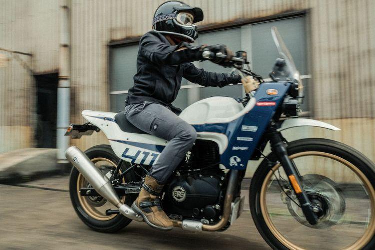 Motor custom Royal Enfield Himalayan milik Den Dimas yang digarap oleh Thrive Motorcycle