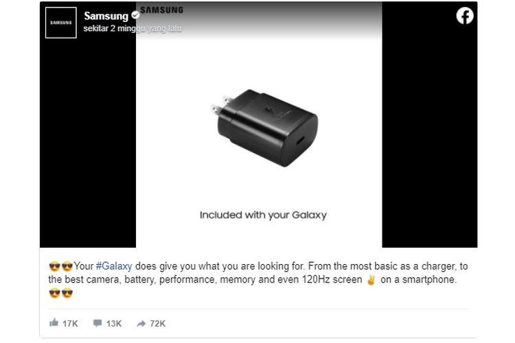 Sindiran Samsung untuk Apple lewat akun Facebook