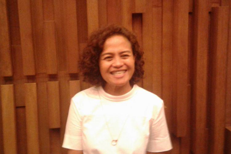 Mira Lesmana diabadikan saat jumpa pers IBOMA 2017, di Gedung SCTV, Senayan, Jakarta Pusat, Senin (20/3/2017