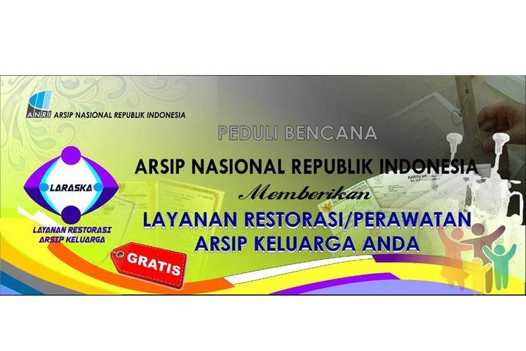Layanan gratis untuk restorasi dokumen yang diberikan ANRI untuk korban banjir.
