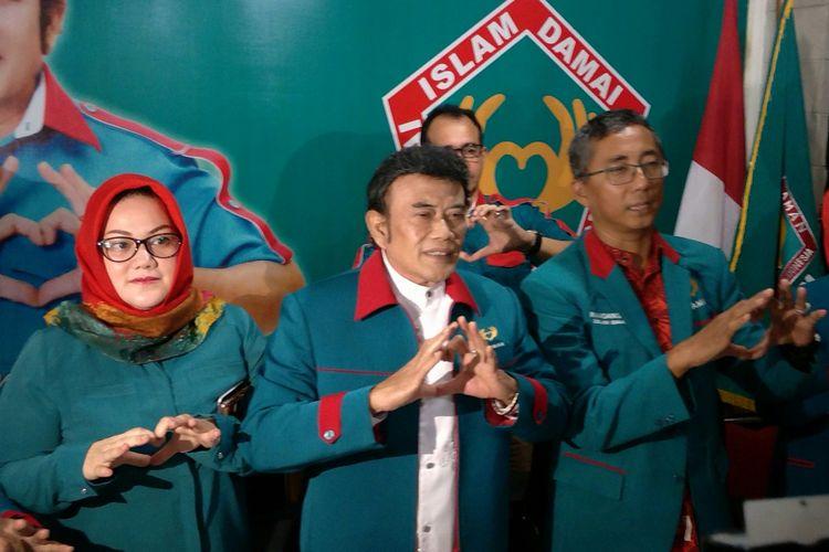 Ketua Umum Partai Idaman Rhoma Irama di Kantor DPP Partai Idaman, Jakarta, Selasa (16/1/2018)