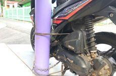 Diduga Milik Pelaku, Motor Dilas ke Tiang, Tidak akan Dilepas sampai Maling Ditangkap