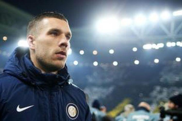 Penyerang Inter Milan asal Jerman, Lukas Podolski.