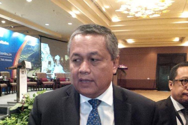 Deputi Gubernur Bank Indonesia, Perry Warjiyo, dalam Seminar BI-APEC Financial Regulators Training Iniatitve di Nusa Dua, Bali Kamis (2/3/2017).