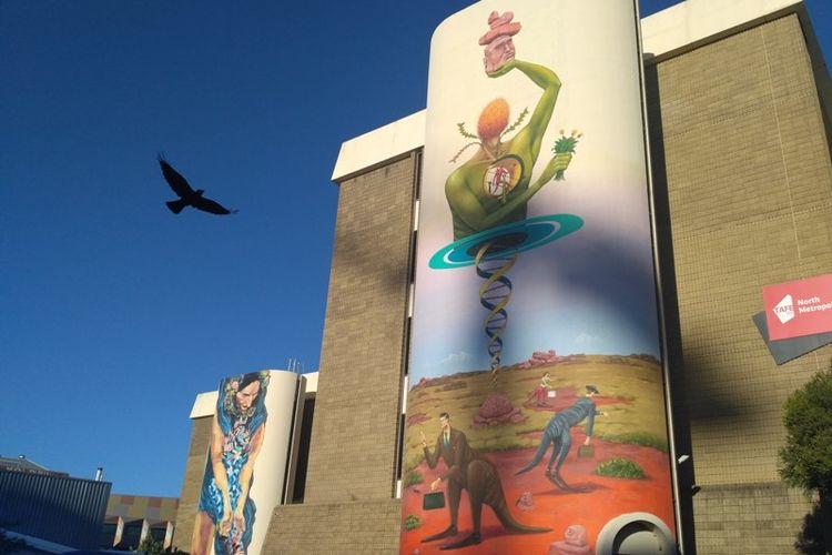 Mural di Kota Perth, Australia Barat.