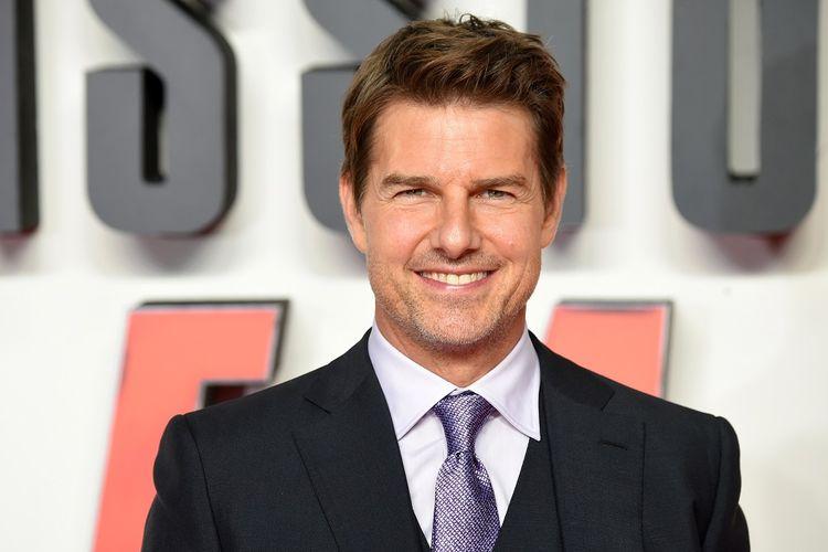 Aktor Tom Cruise menghadiri pemutaran perdana film Mission: Impossible - Fallout di London, Inggris, pada 13 Juli 2018.