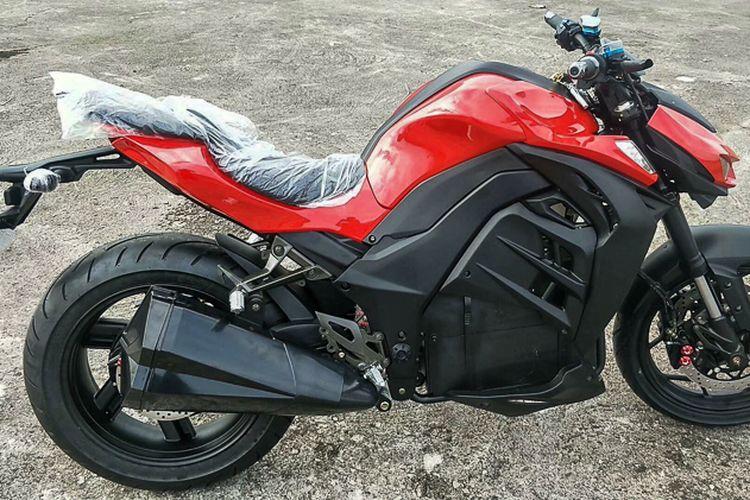Desain Kawasaki Z1000 ditiru untuk dibuat jadi motor listrik oleh pabrikan asal China
