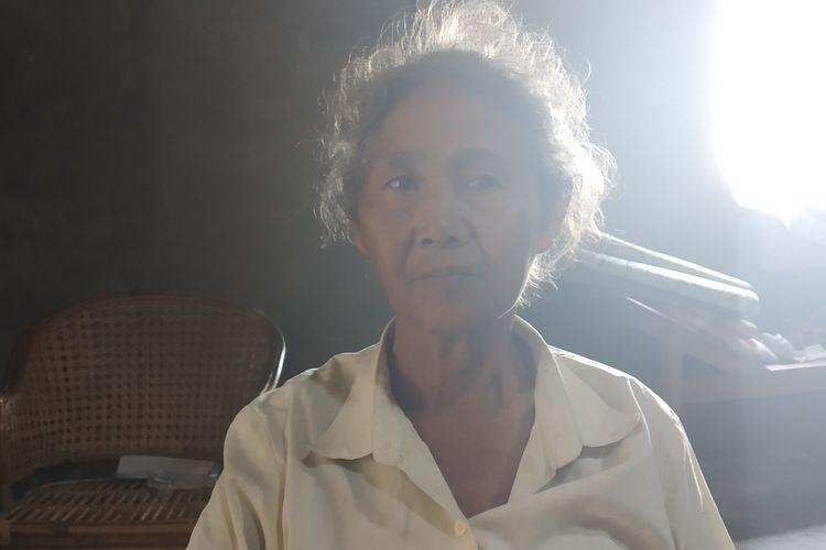 Mbah Klumpuk ditemui di rumahnya Dukuh Ngemplaksuren, Desa Karangduren, Kecamatan Sawit, Boyolali, Jawa Tengah, Rabu (26/6/2019).