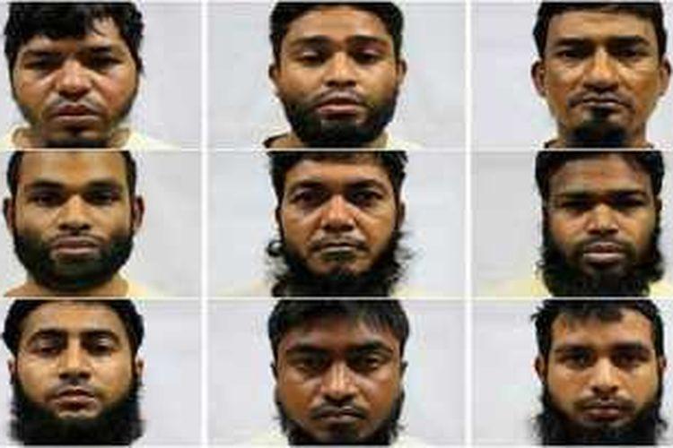 Ke-14 orang itu adalah bagian dari 26 pekerja bangunan yang diusir dari Singapura, pada 2015, lantaran menyokong ideologi jihadis bersenjata.