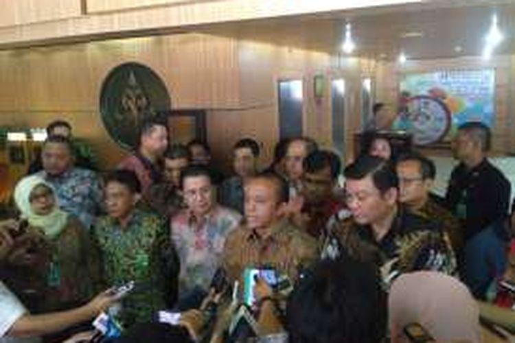 Pernyataan pers pihak PT RAPP dan Kementerian LHK, serta Badan Restorasi Gambut, soal penghadangan rombongan BRG di Meranti, Jumat (9/9/2016).
