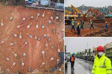 Pekerja Konstruksi China Ditargetkan Bangun RS Khusus Corona dalam 10 Hari