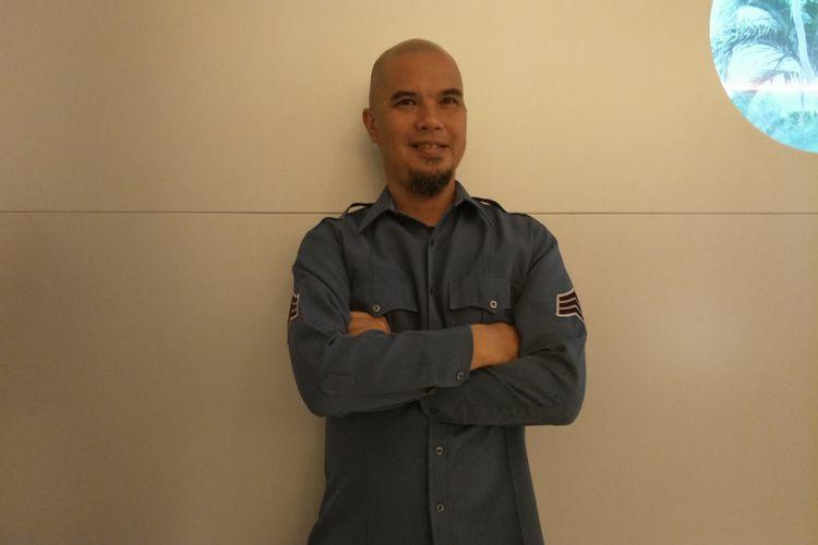 Ahmad Dhani saat ditemui di Grand Kemang, Jakarta Selatan, Sabtu (6/1/2018).