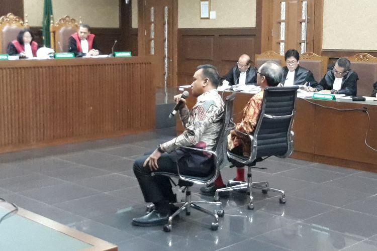 Irvanto Hendra Pambudi di Pengadilan Tindak Pidana Korupsi Jakarta, Selasa (23/10/2018).