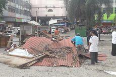 Kurang Lahan Parkir, PT KAI Gusur 9 Kios dan Warung Makan di Lampung
