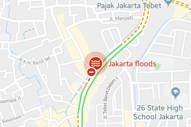 GoogleMaps tayangkan informasi banjir di peta