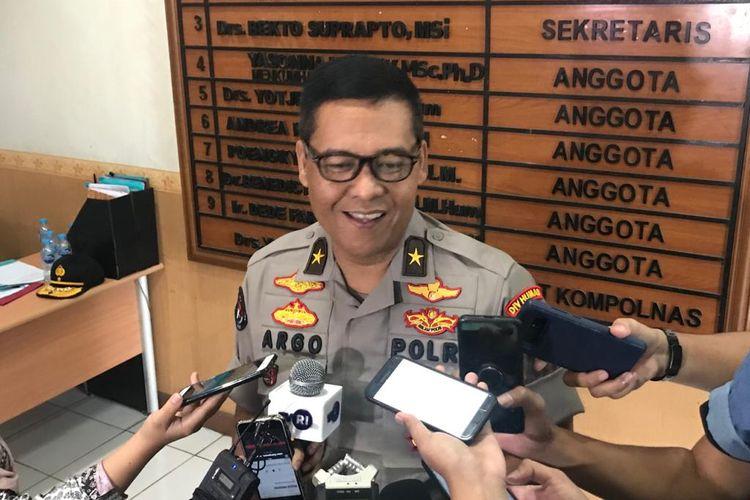 Kepala Biro Penerangan Masyarakat (Karopenmas) Divisi Humas Polri Brigjen (Pol) Argo Yuwono di kantor Kompolnas, Jakarta Selatan, Jumat (24/1/2020).